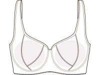 Bra Pattern #DL01, multi (3) sizes