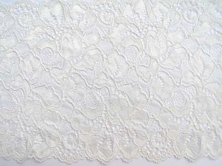 stretch lace trim ivory