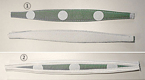 details of a fabric strap