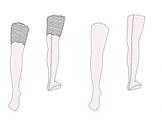 thigh highs pattern DL41