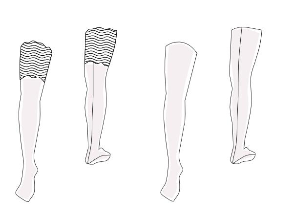 thigh highs pattern DL41